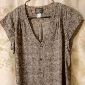 Sears Simply Styled Women Short Sleeve Blouse L